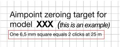 Zeroing Targets Check Square Measurements